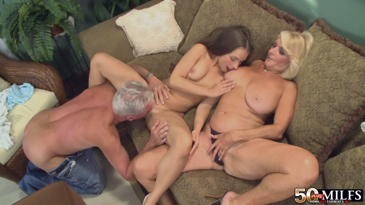 Бабка дед и внучка порно видео